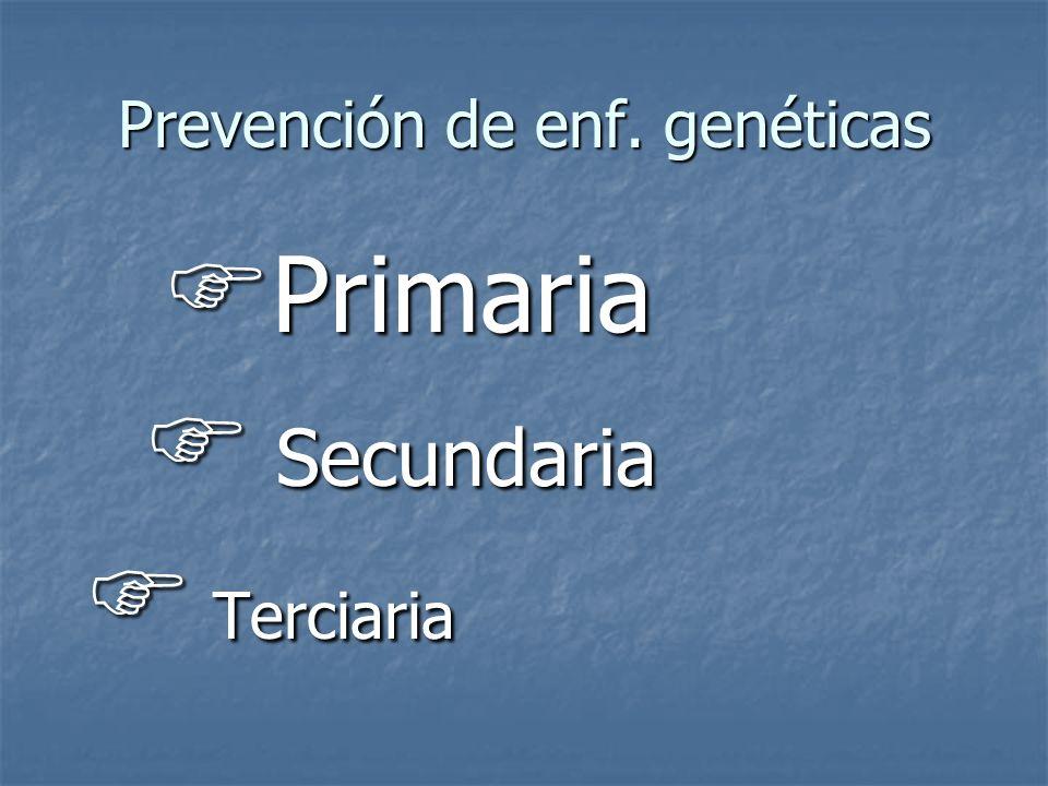 Prevención de enf. genéticas