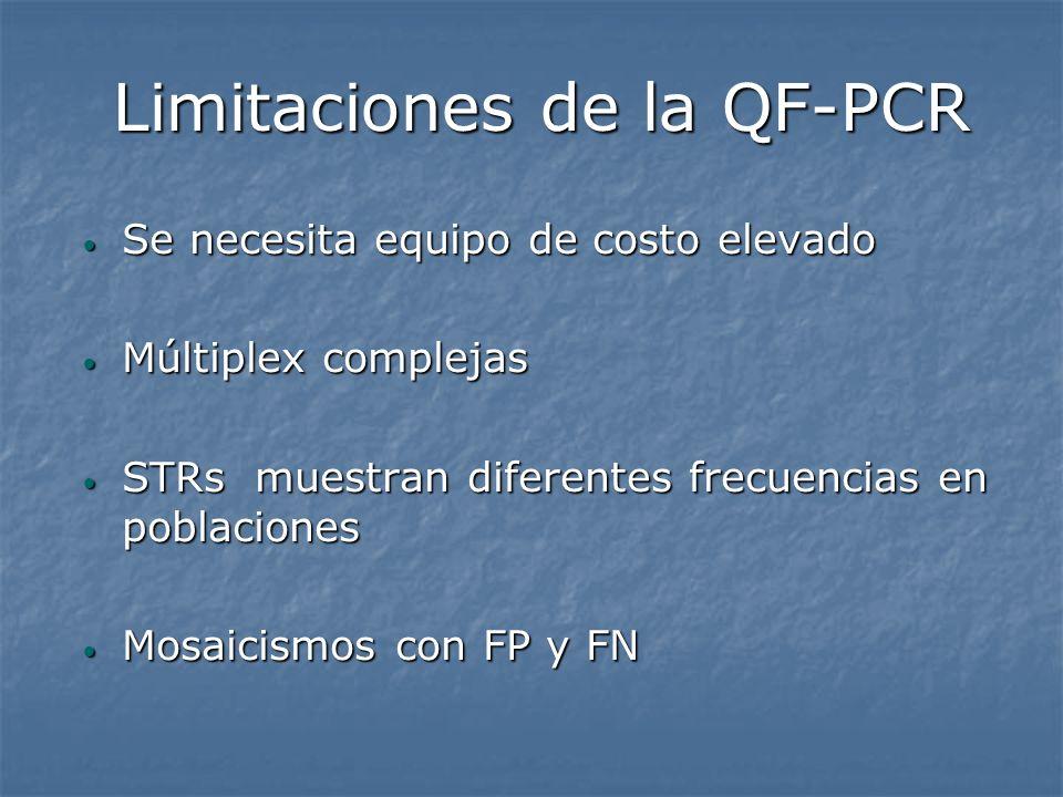 Limitaciones de la QF-PCR