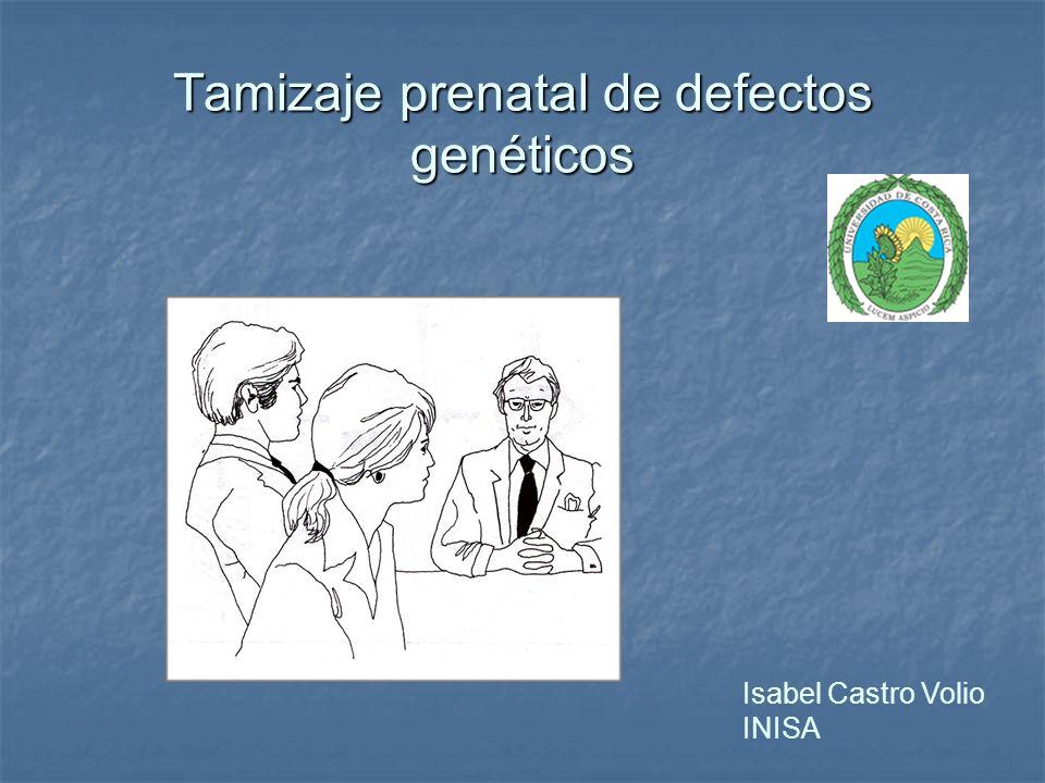 Tamizaje prenatal de defectos genéticos