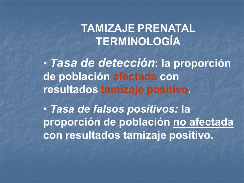 TAMIZAJE PRENATAL TERMINOLOGÍA