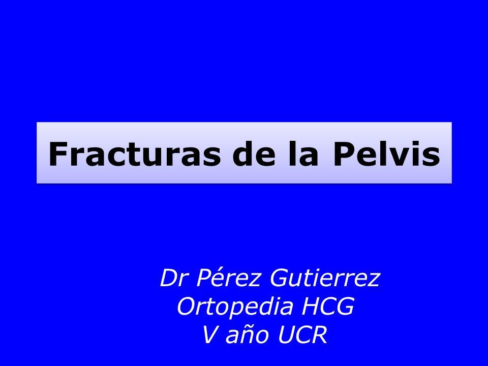Fracturas de la Pelvis Dr Pérez Gutierrez Ortopedia HCG V año UCR