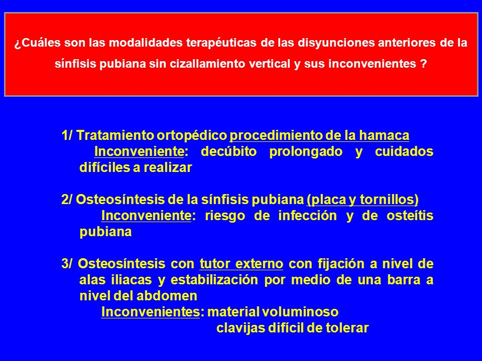 1/ Tratamiento ortopédico procedimiento de la hamaca