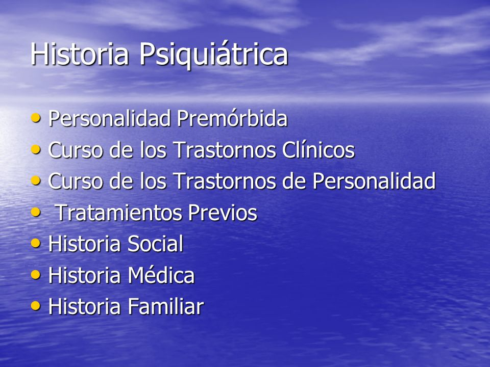 Historia Psiquiátrica