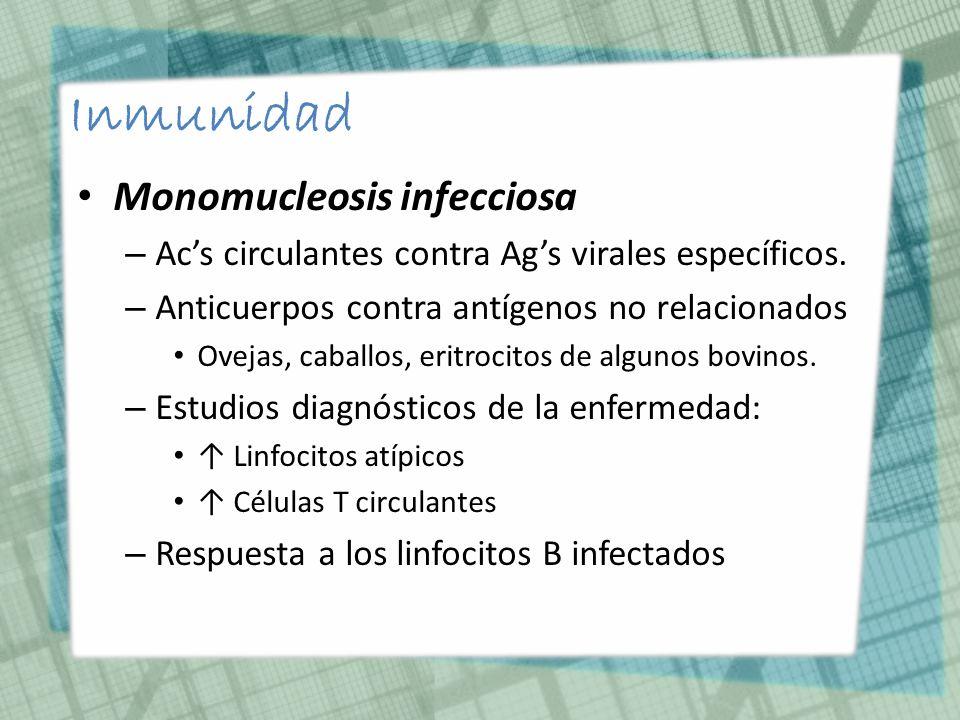 Inmunidad Monomucleosis infecciosa