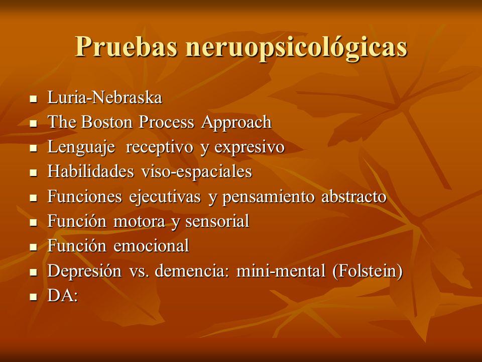 Pruebas neruopsicológicas