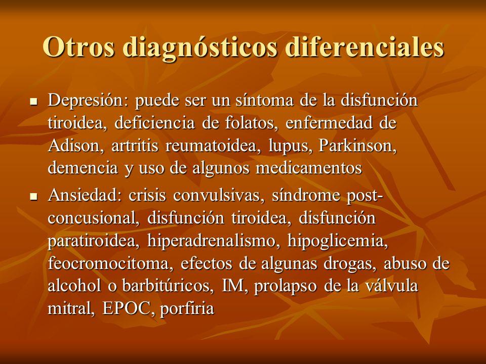 Otros diagnósticos diferenciales