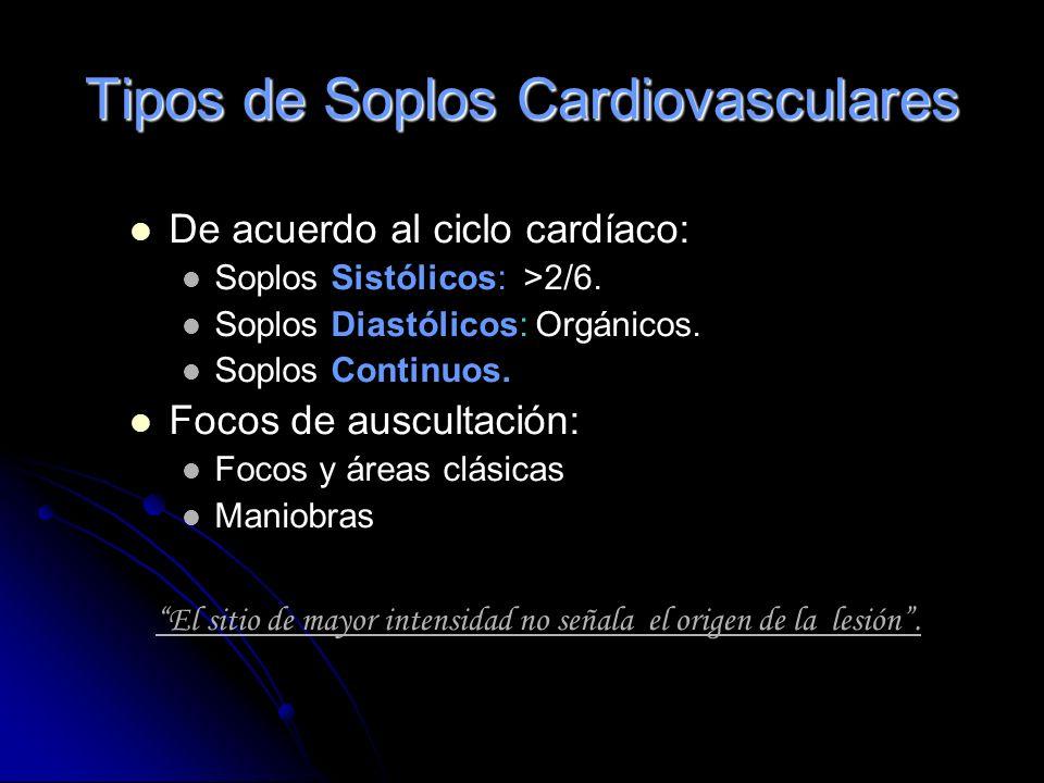 Tipos de Soplos Cardiovasculares