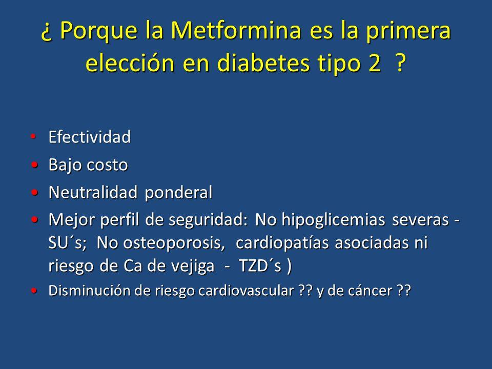 ¿ Porque la Metformina es la primera elección en diabetes tipo 2