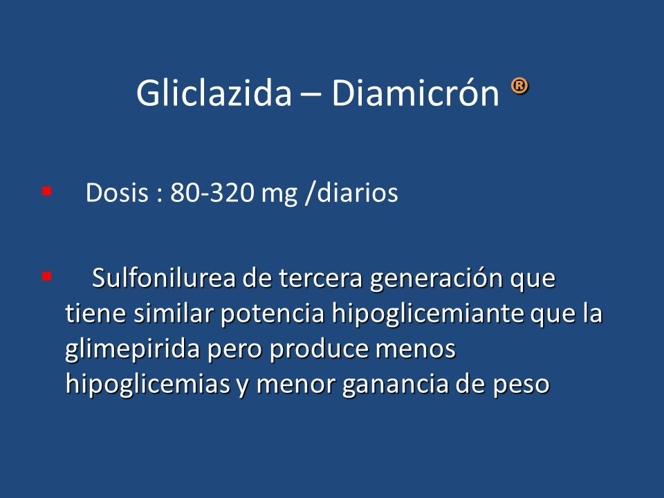 Gliclazida – Diamicrón ®