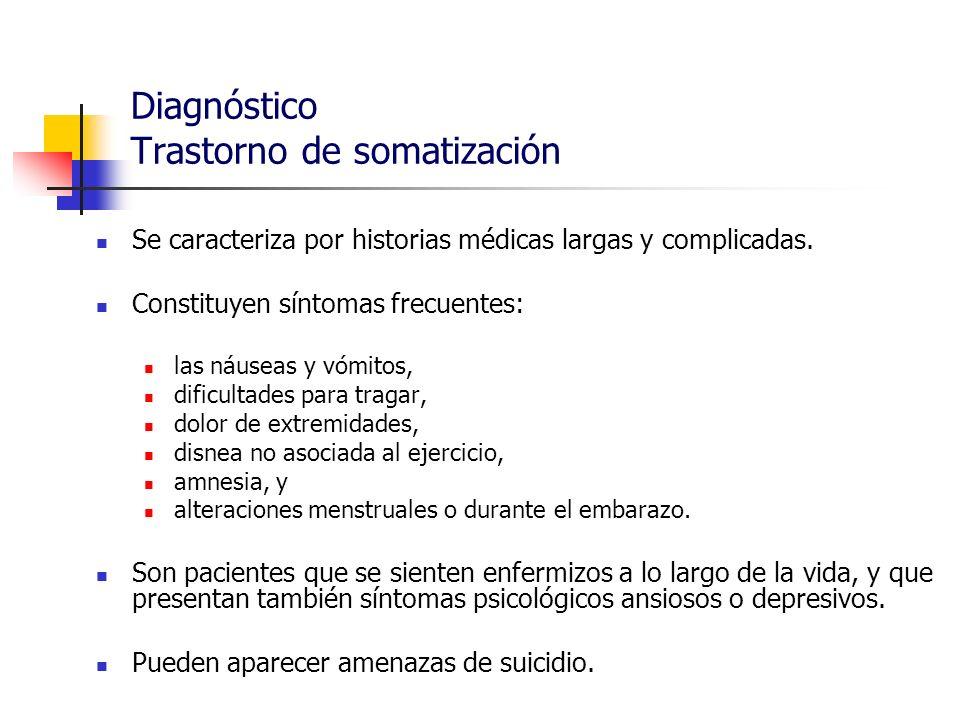 Diagnóstico Trastorno de somatización