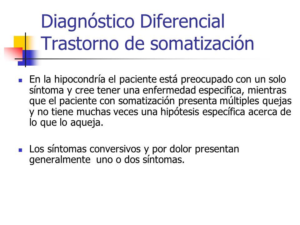 Diagnóstico Diferencial Trastorno de somatización