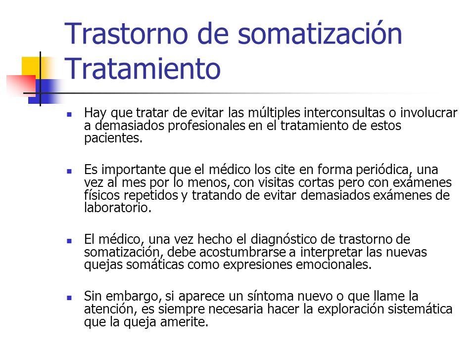Trastorno de somatización Tratamiento