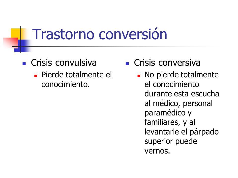 Trastorno conversión Crisis convulsiva Crisis conversiva