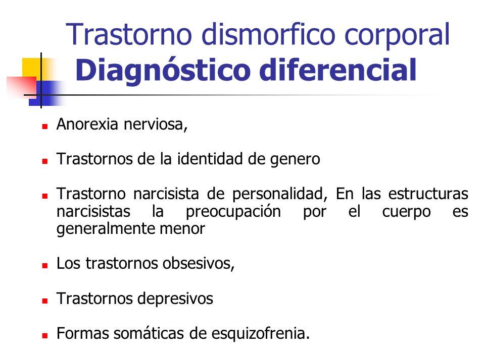 Trastorno dismorfico corporal Diagnóstico diferencial