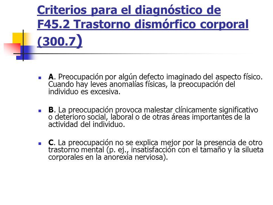 Criterios para el diagnóstico de F45