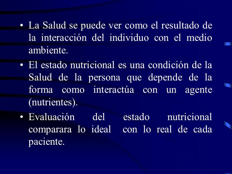 La Salud se puede ver como el resultado de la interacción del individuo con el medio ambiente.