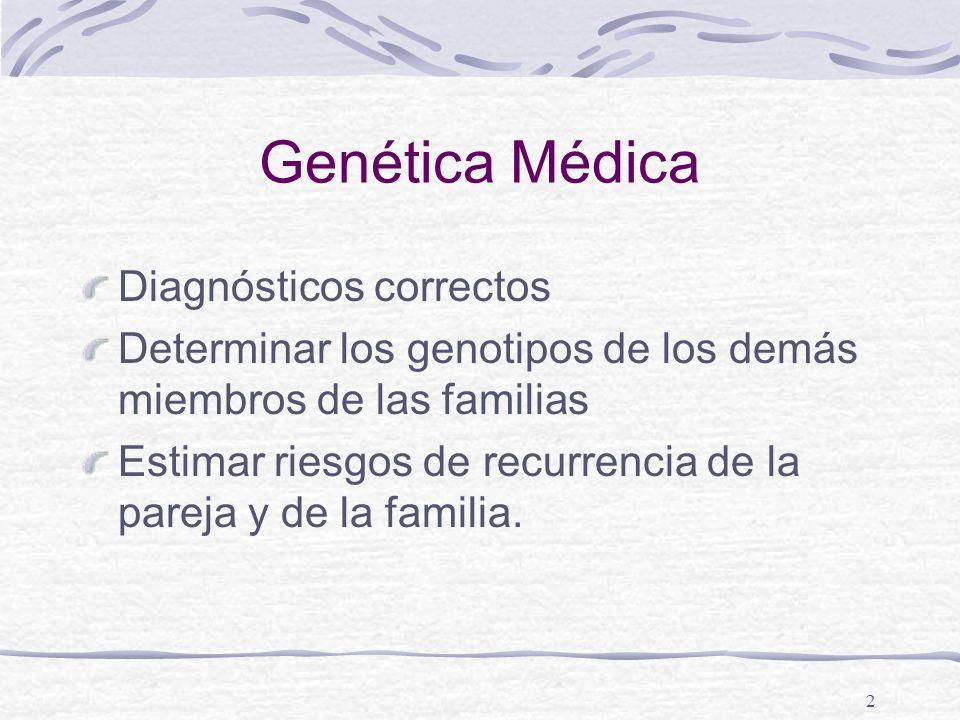 Genética Médica Diagnósticos correctos