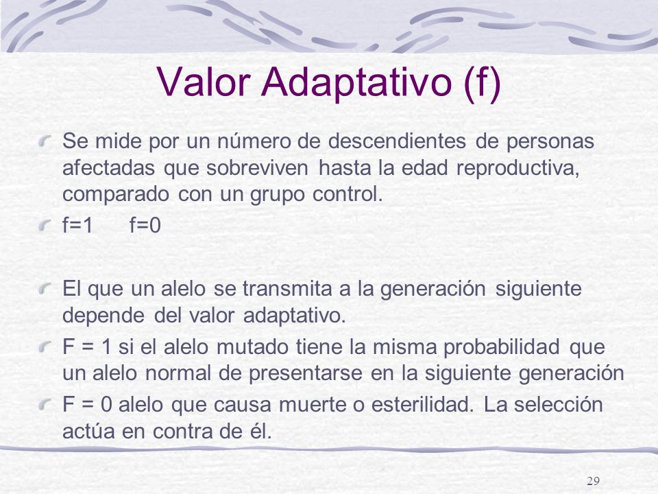 Valor Adaptativo (f)