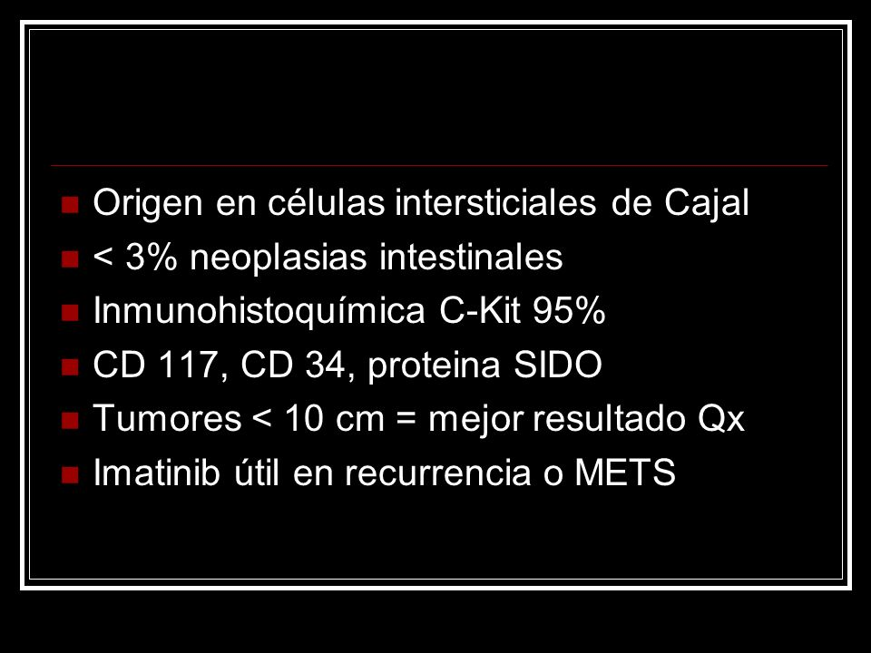 Origen en células intersticiales de Cajal