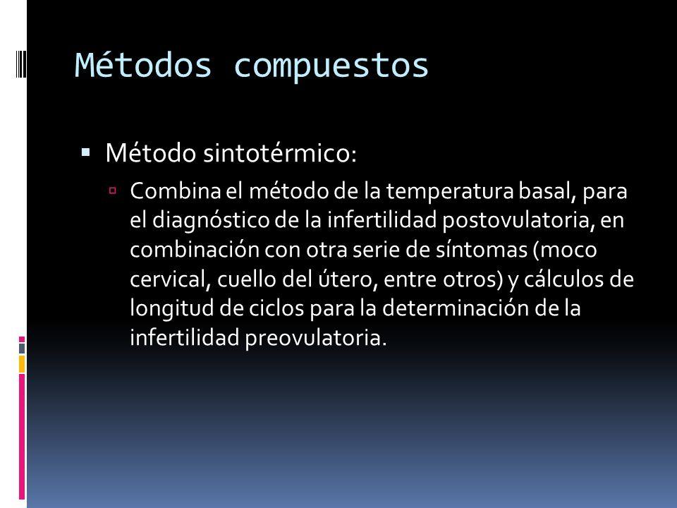 Métodos compuestos Método sintotérmico: