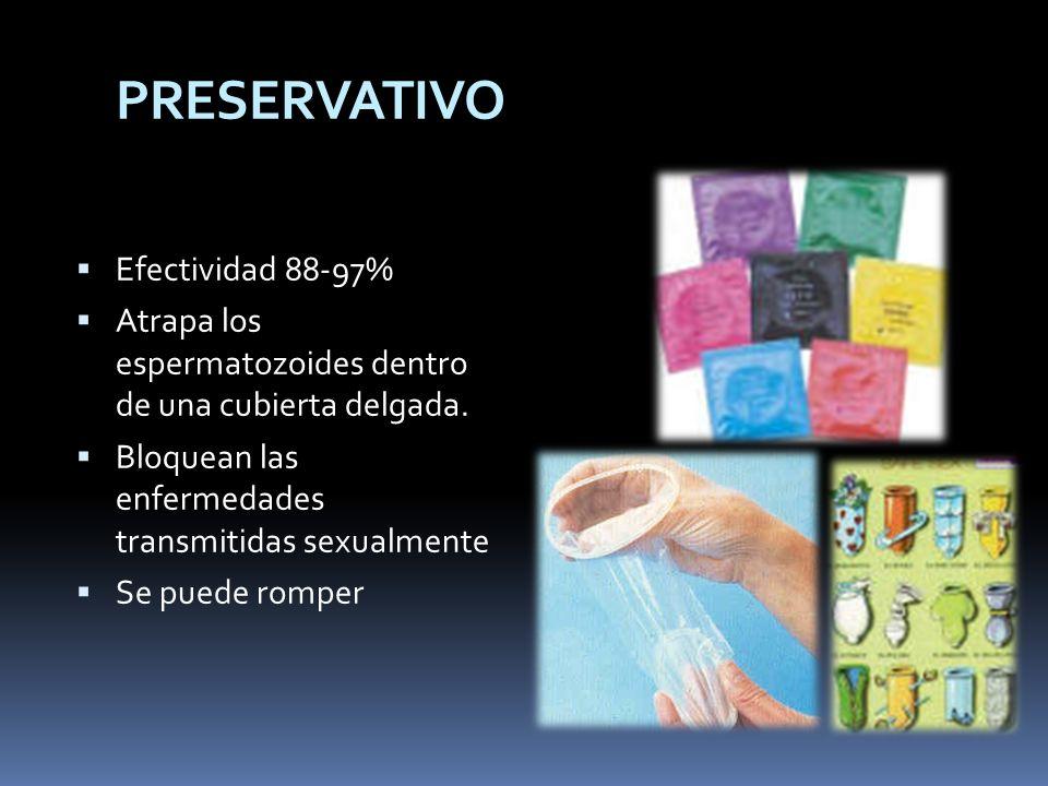 PRESERVATIVO Efectividad 88-97%