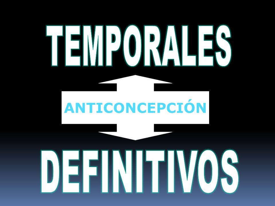 TEMPORALES ANTICONCEPCIÓN DEFINITIVOS