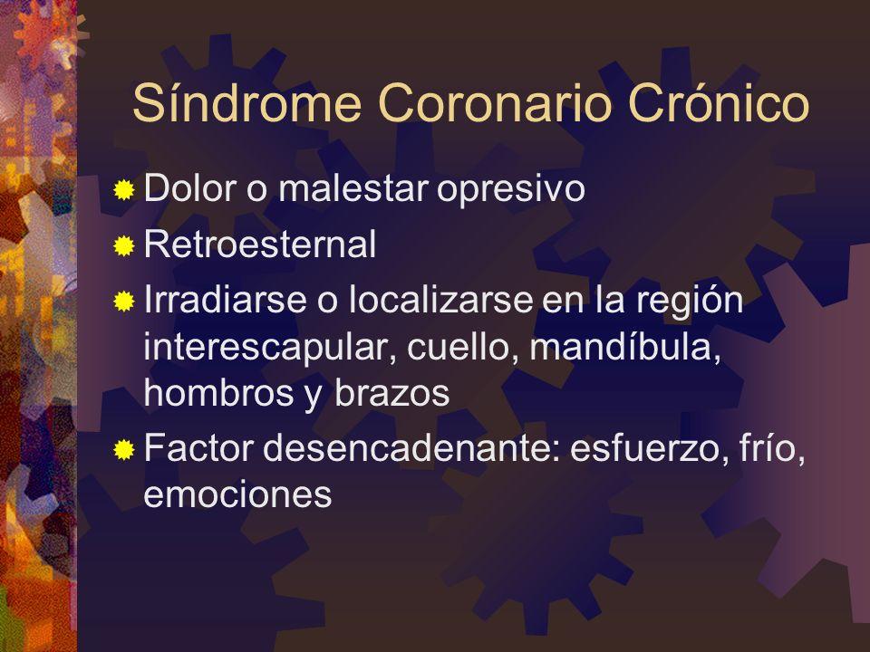 Síndrome Coronario Crónico