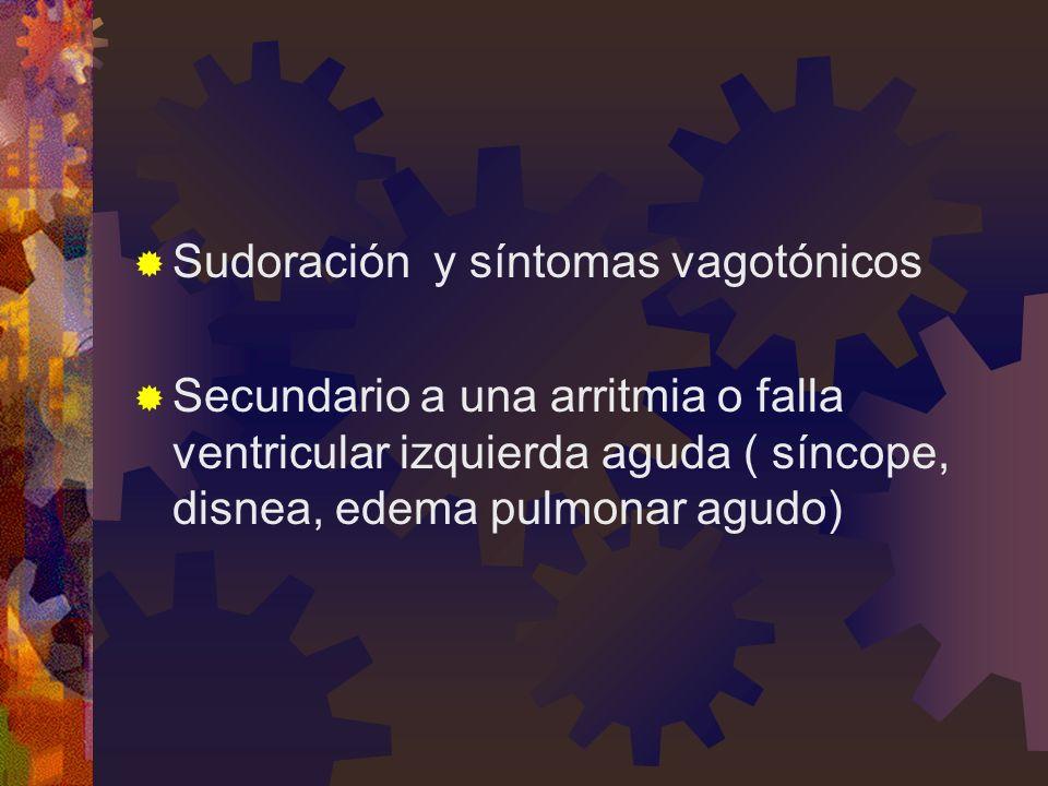 Sudoración y síntomas vagotónicos