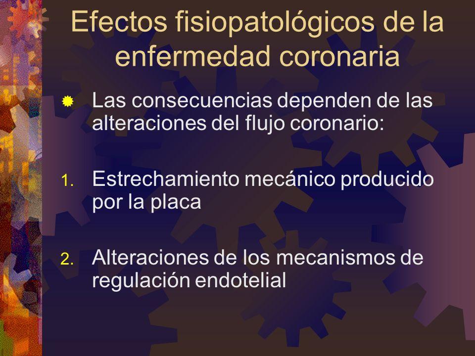 Efectos fisiopatológicos de la enfermedad coronaria