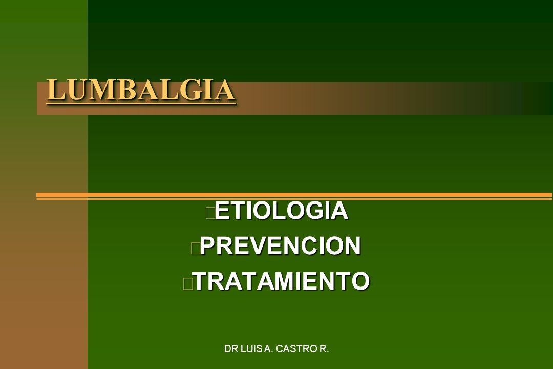ETIOLOGIA PREVENCION TRATAMIENTO