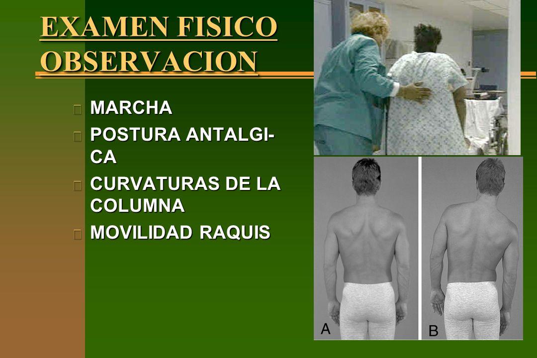 EXAMEN FISICO OBSERVACION