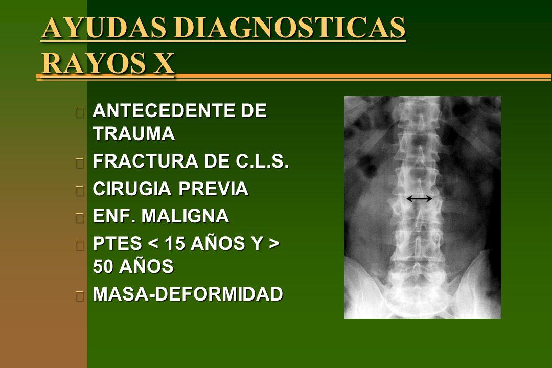 AYUDAS DIAGNOSTICAS RAYOS X