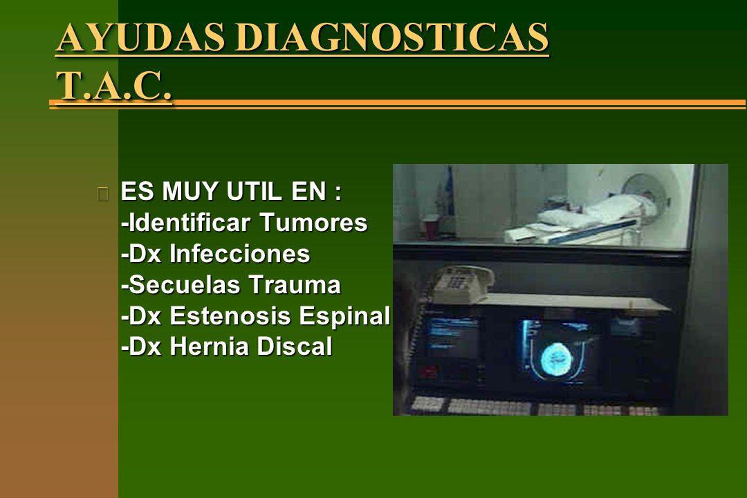 AYUDAS DIAGNOSTICAS T.A.C.