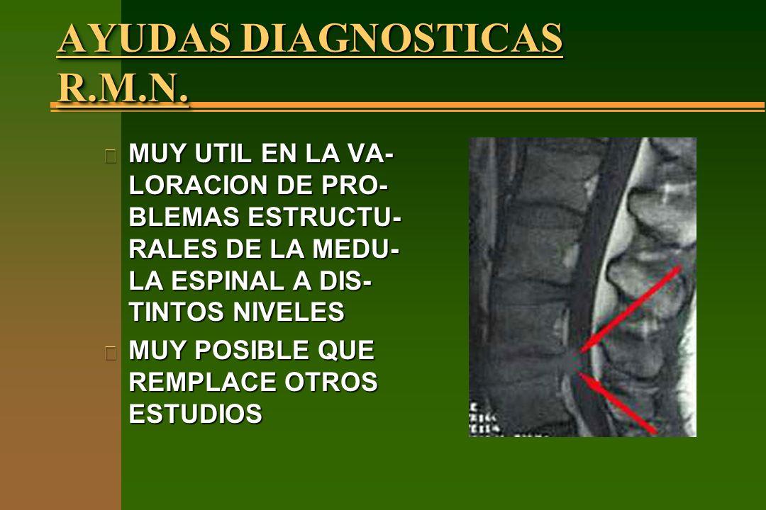 AYUDAS DIAGNOSTICAS R.M.N.