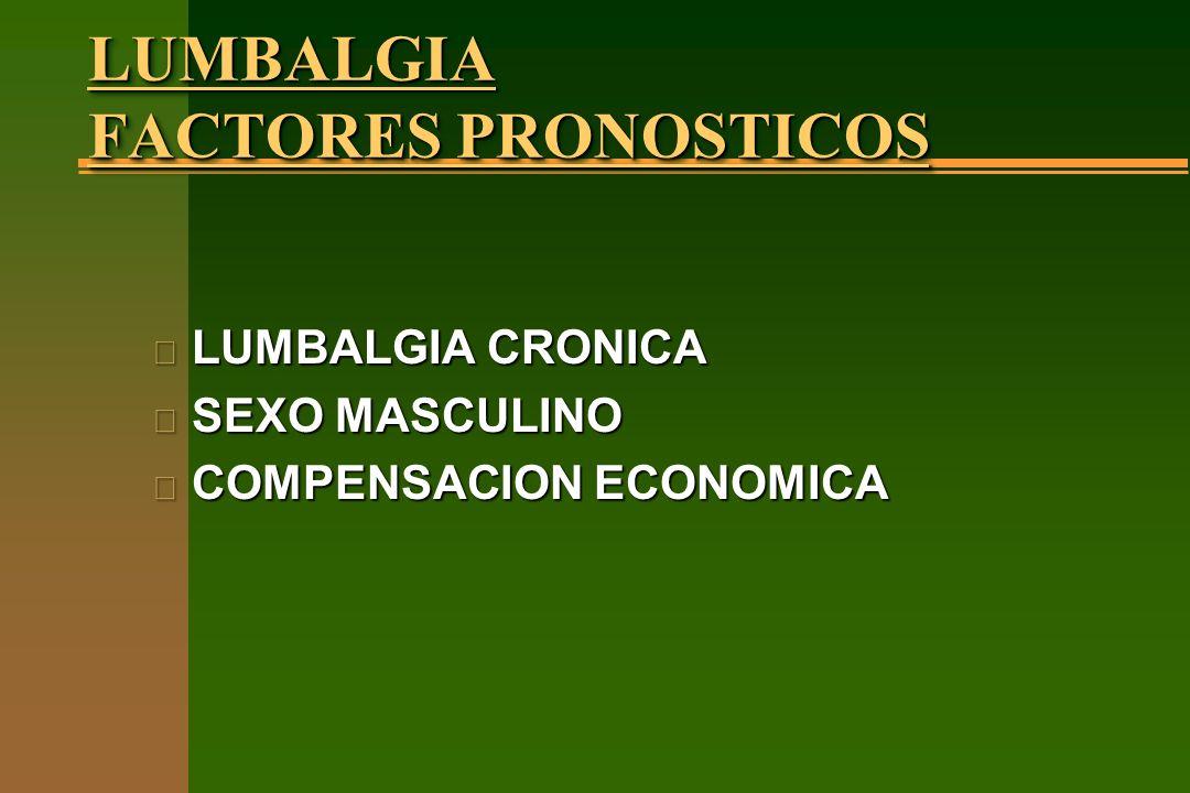 LUMBALGIA FACTORES PRONOSTICOS