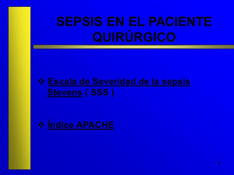 SEPSIS EN EL PACIENTE QUIRÚRGICO