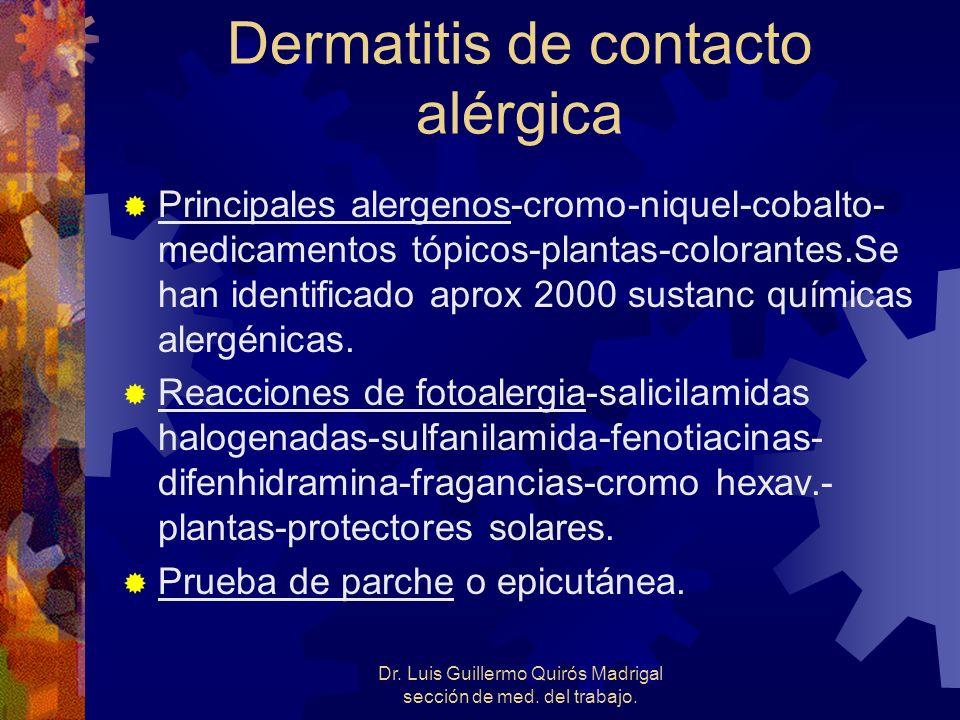 Dermatitis de contacto alérgica
