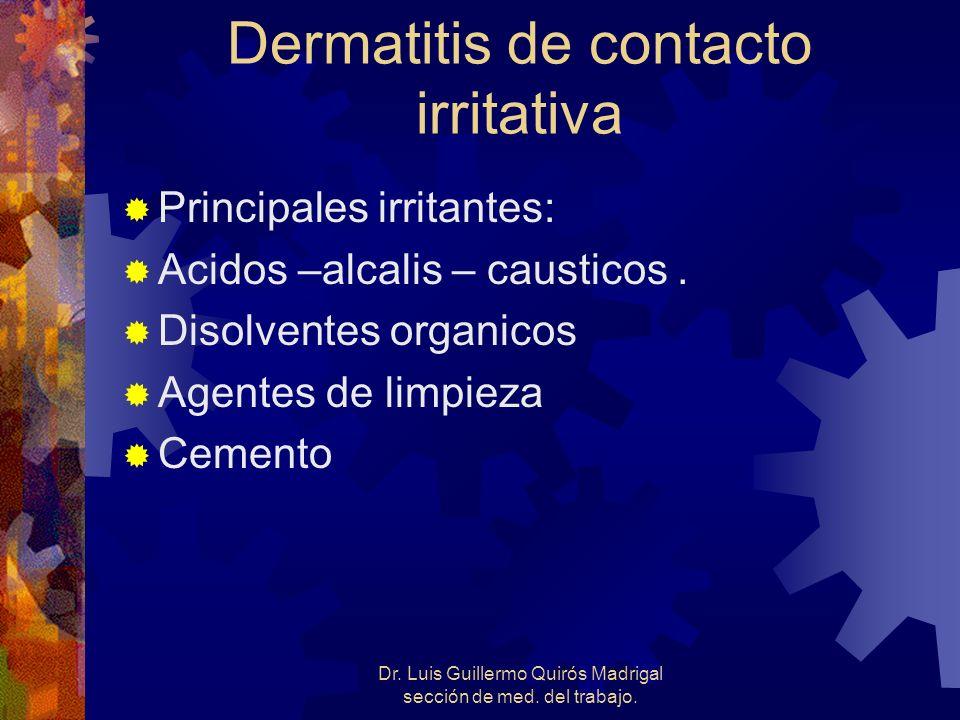 Dermatitis de contacto irritativa