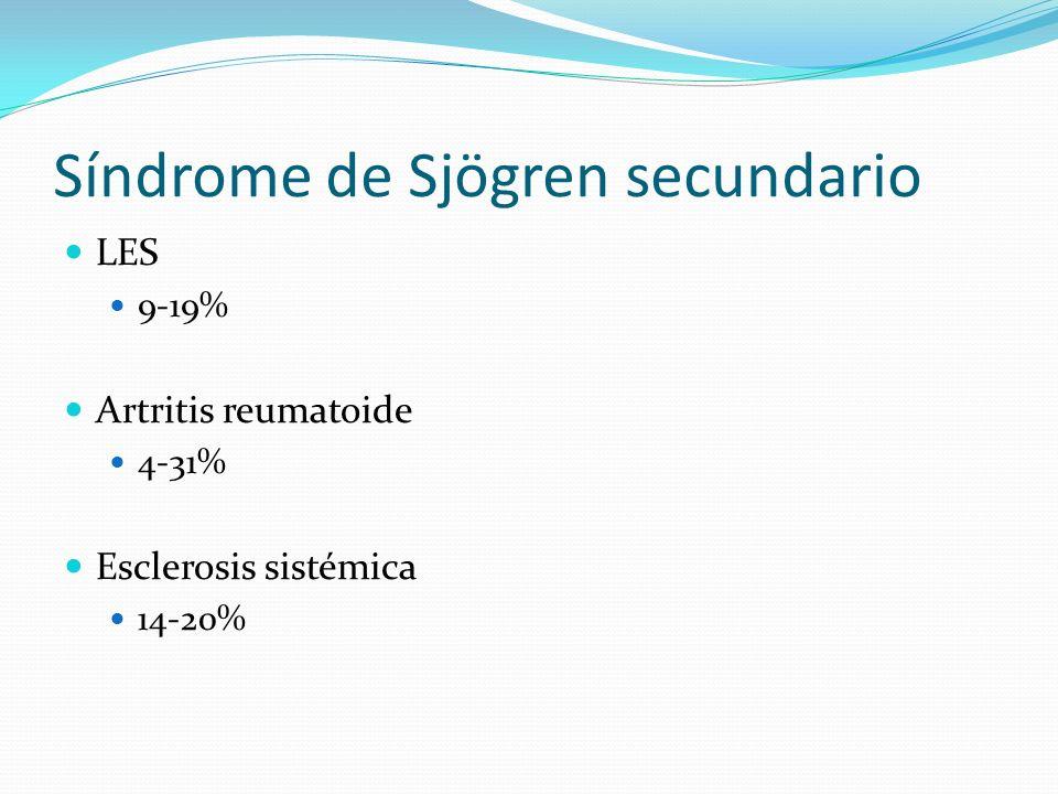 Síndrome de Sjögren secundario