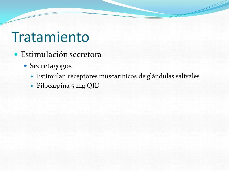 Tratamiento Estimulación secretora Secretagogos