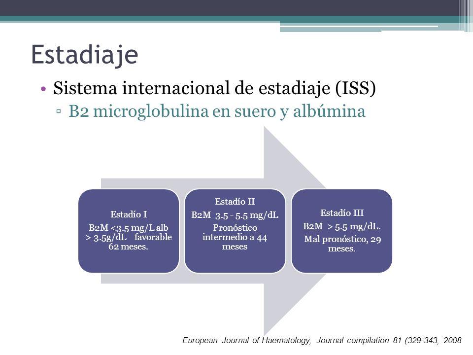 Estadiaje Sistema internacional de estadiaje (ISS)