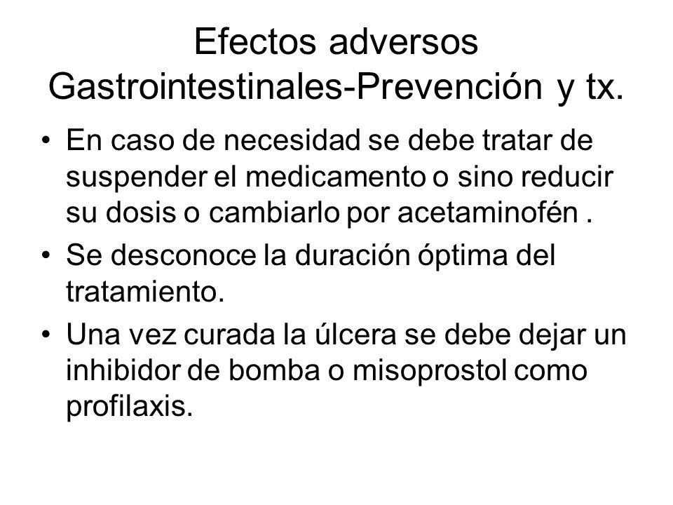 Efectos adversos Gastrointestinales-Prevención y tx.