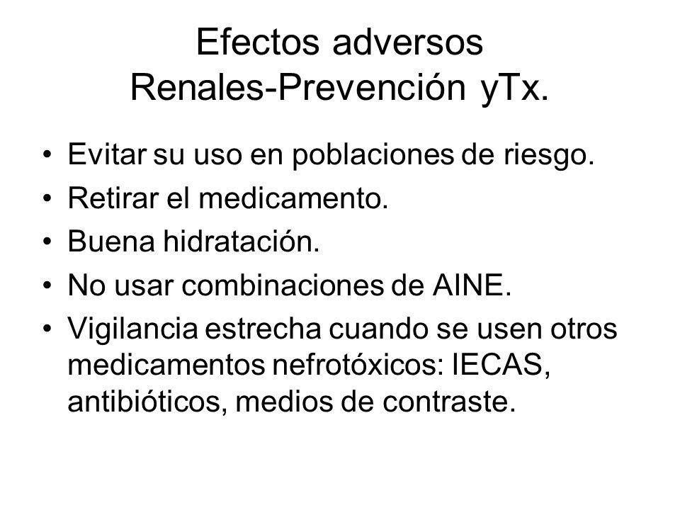Efectos adversos Renales-Prevención yTx.