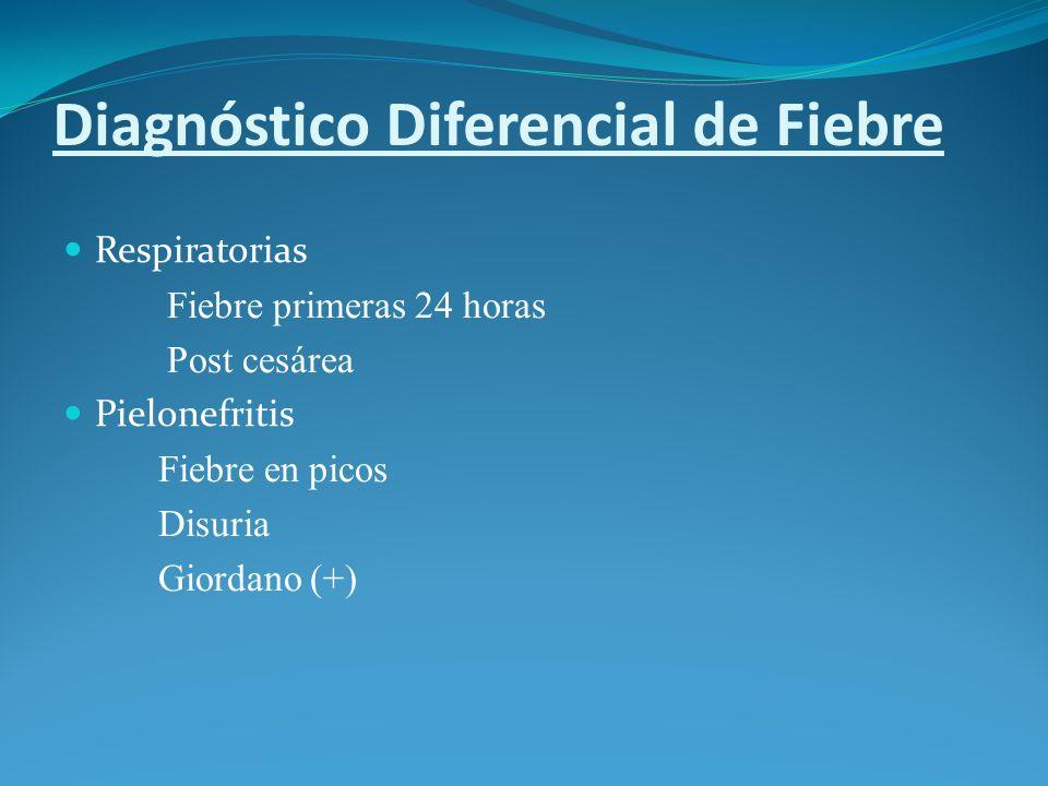Diagnóstico Diferencial de Fiebre
