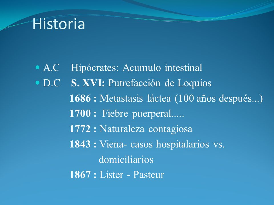 Historia A.C Hipócrates: Acumulo intestinal