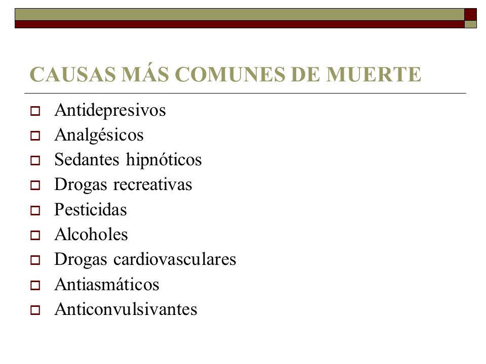 CAUSAS MÁS COMUNES DE MUERTE
