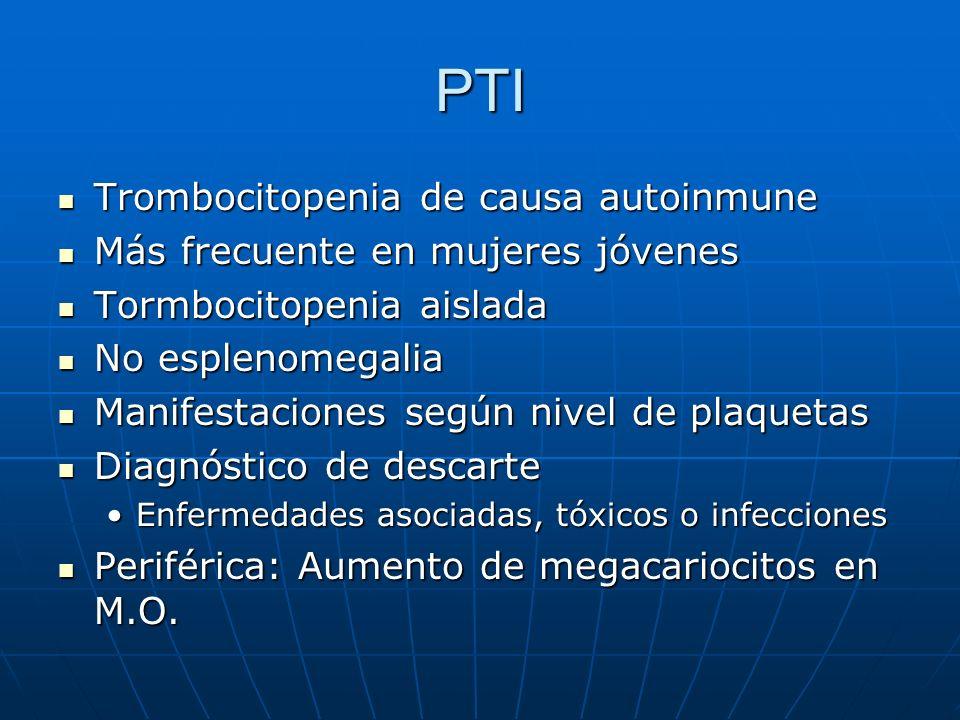 PTI Trombocitopenia de causa autoinmune