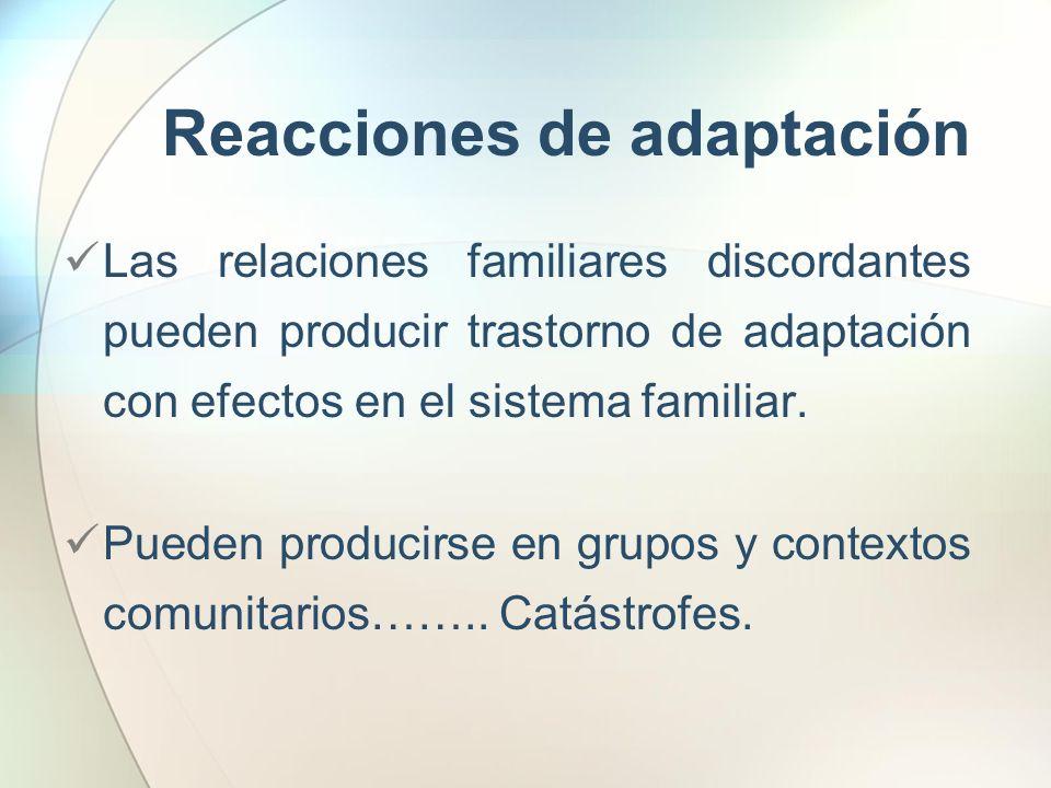 Reacciones de adaptación