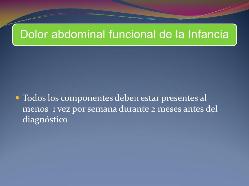 Dolor abdominal funcional de la Infancia