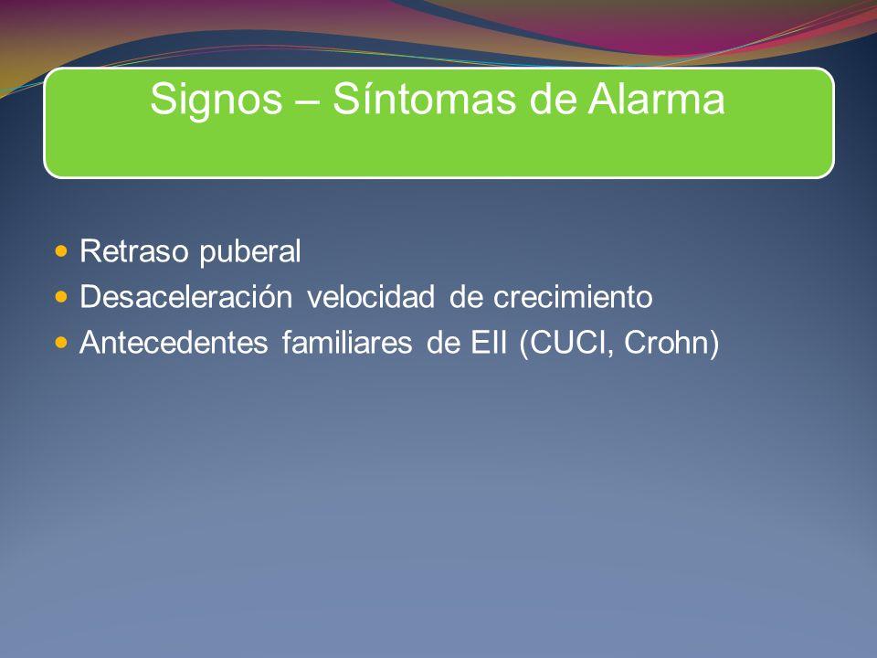 Signos – Síntomas de Alarma